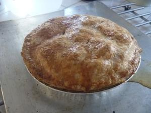 apple pie outside