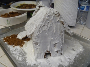 gingerbread house try two before