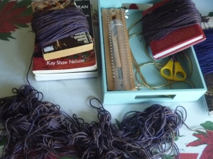 undoing tangled yarn