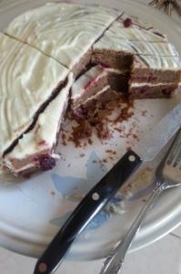 cut into cake