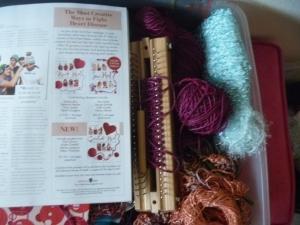 yarn and magazine