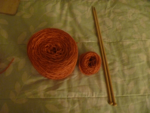 frogged yarn