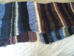 blue and puple afghan