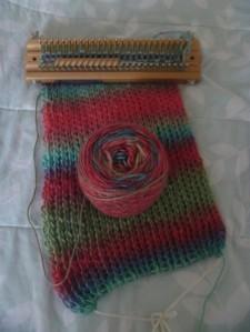knitted scarf so far