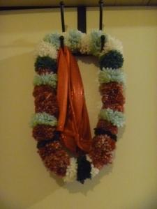 pom-pom wreath