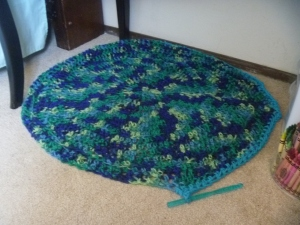 circular rug progress