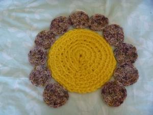 main part of a crochet flower