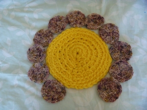 main part of a crochet flower