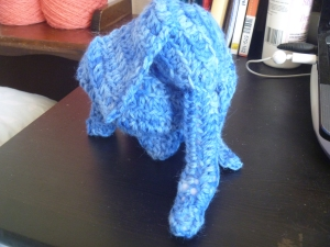 blue elephant with ears