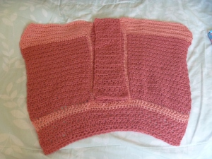 back of crocheted top