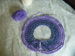 purple mini poncho