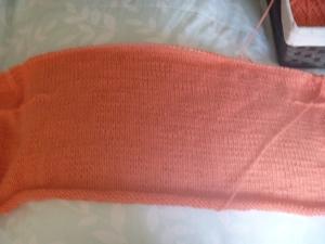 knitted cardigan progress