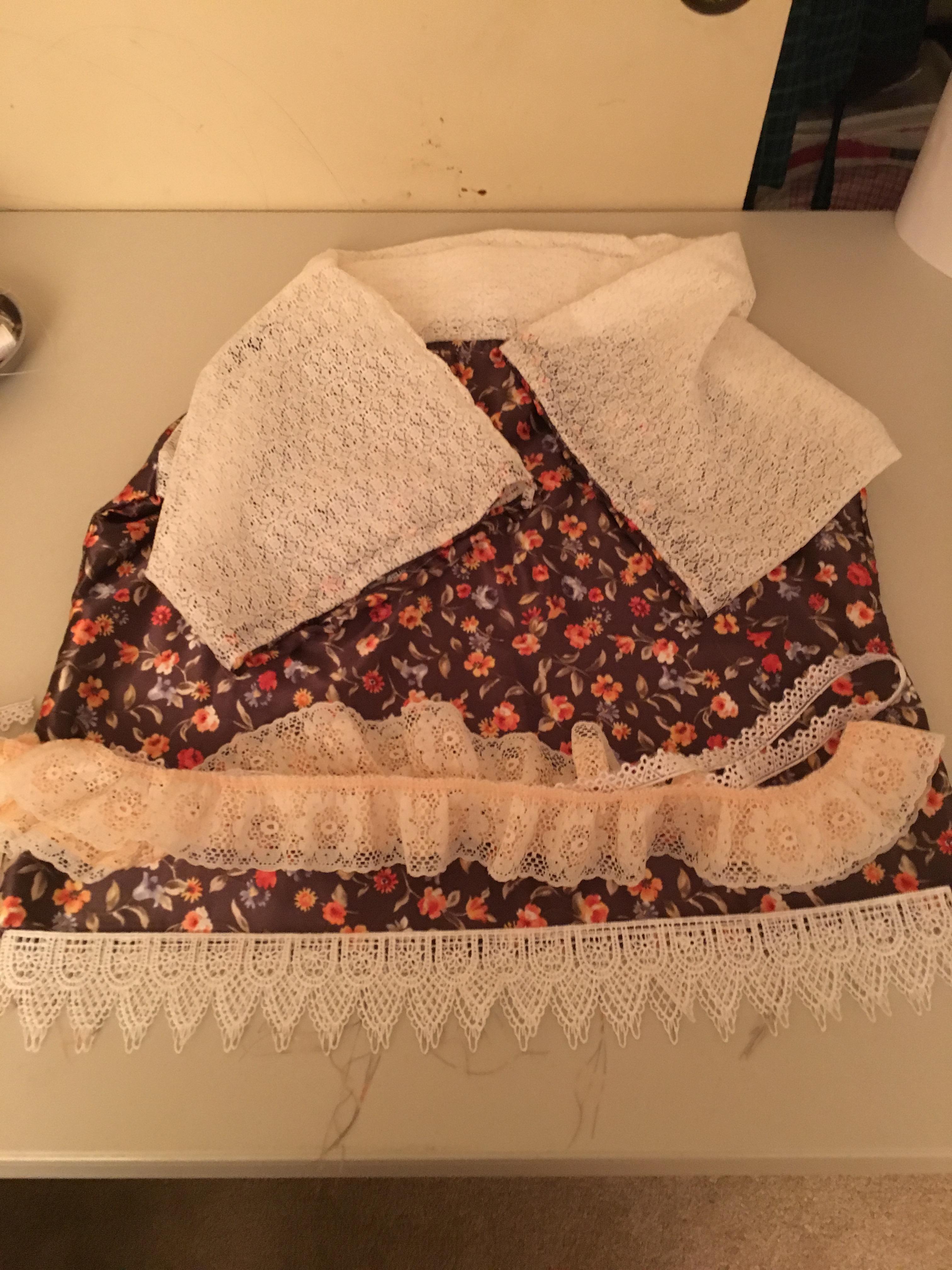 progress of silk and lace shirt