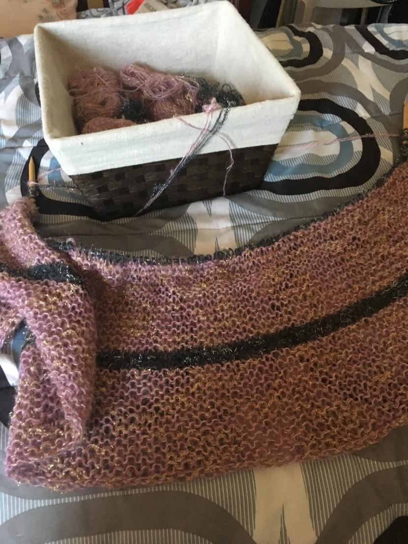 striped pullover or cardigan progress