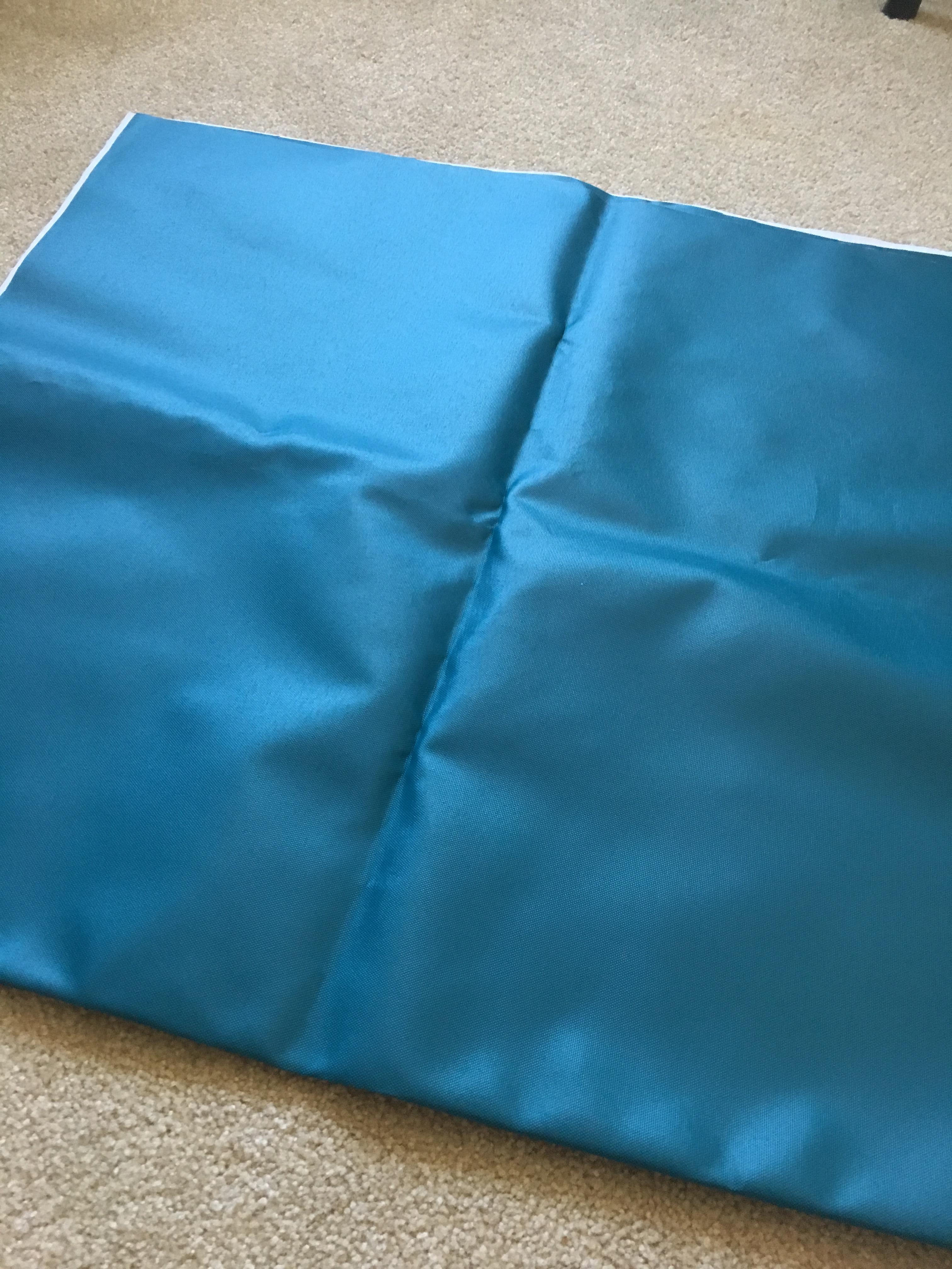 vinyl blue fabric
