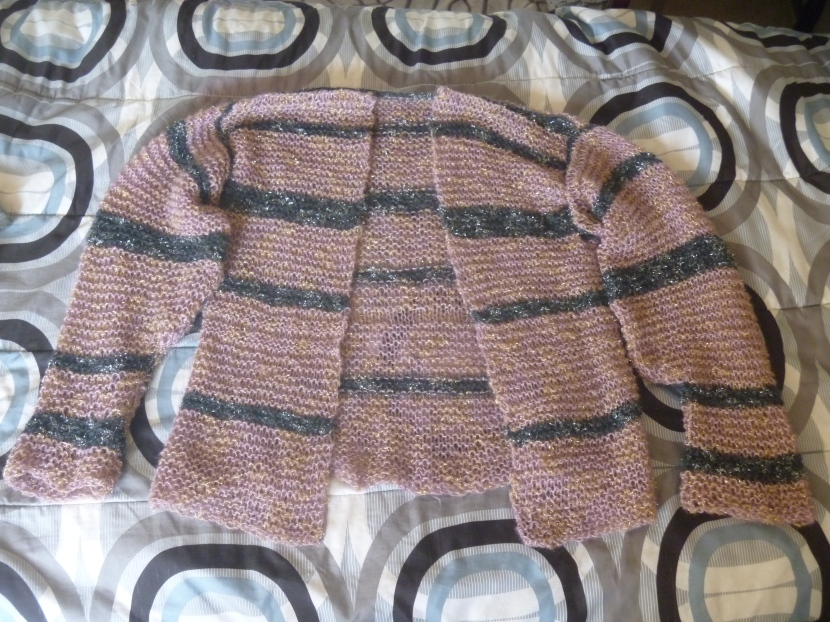 cardigan without single/double crochet