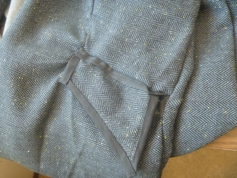 one of the jacket pockets
