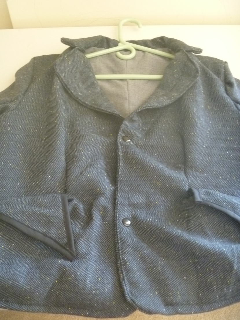 jacket with snap buttons closed