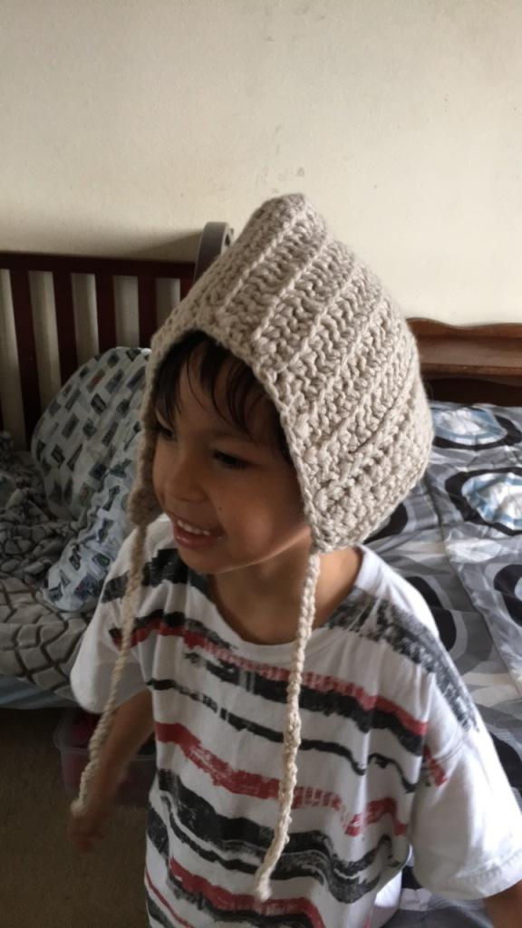 crochet hat on Dylan