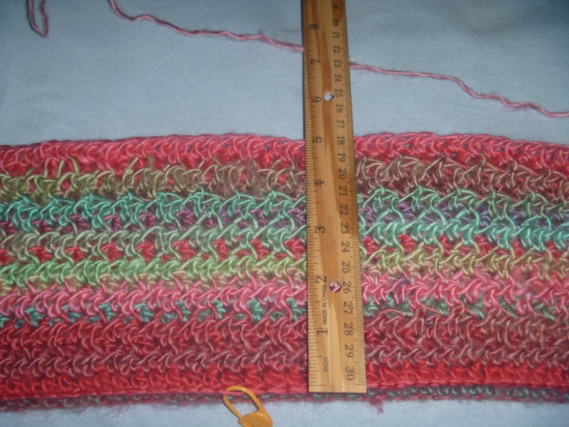 continuation of top with Red Heart yarn