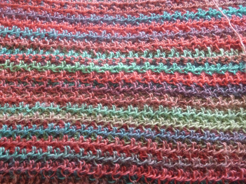 upclose progress on pullover