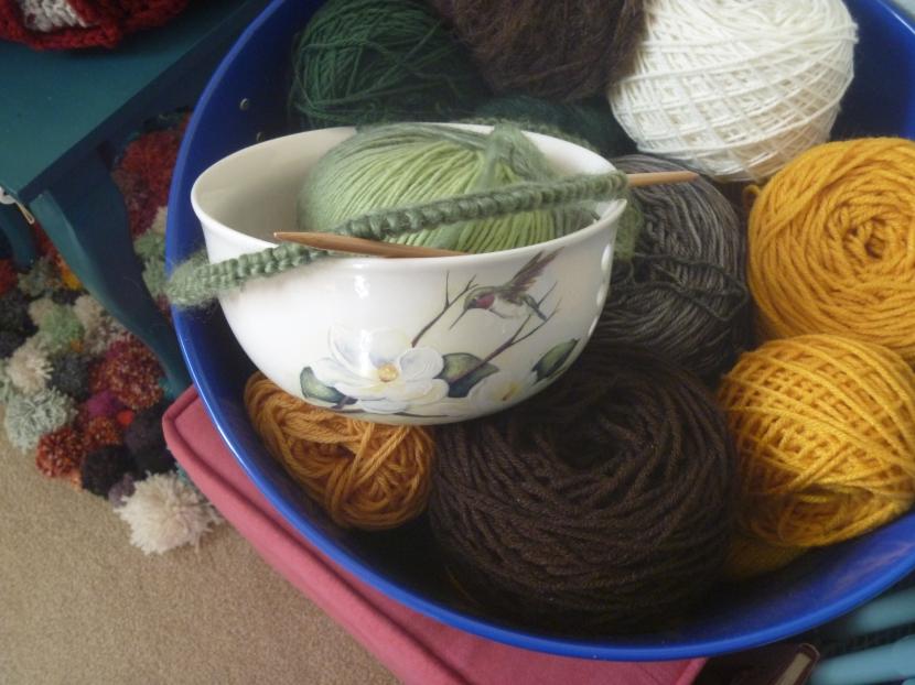 yarn bowl in various yarns