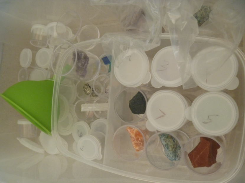 crystals and containers