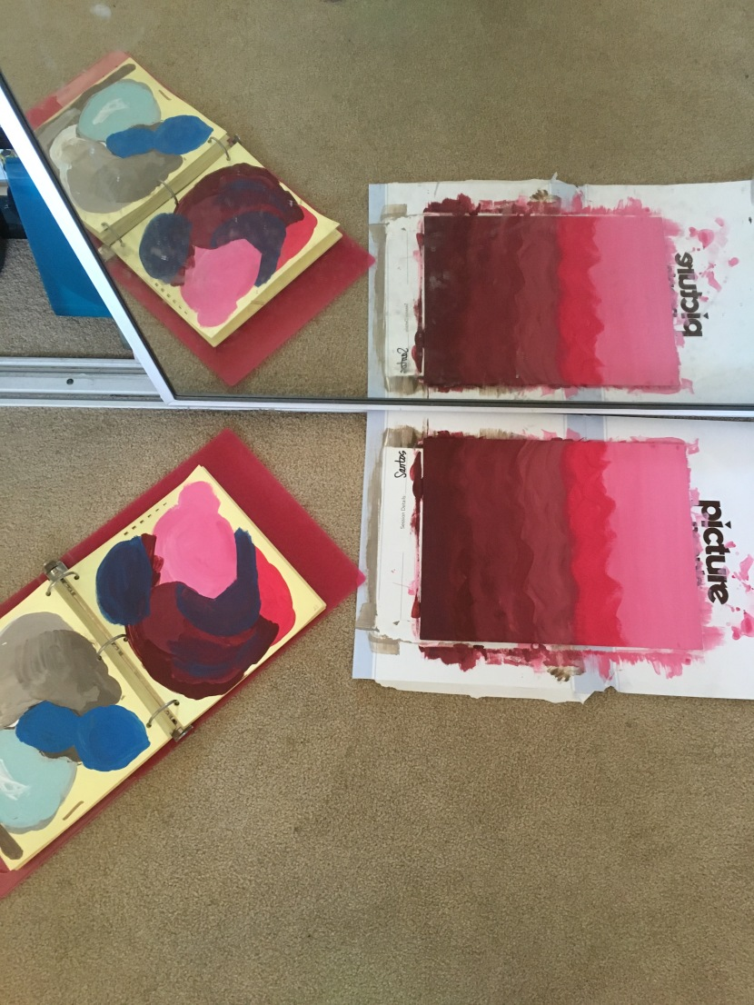 palette on the left of the canvas board