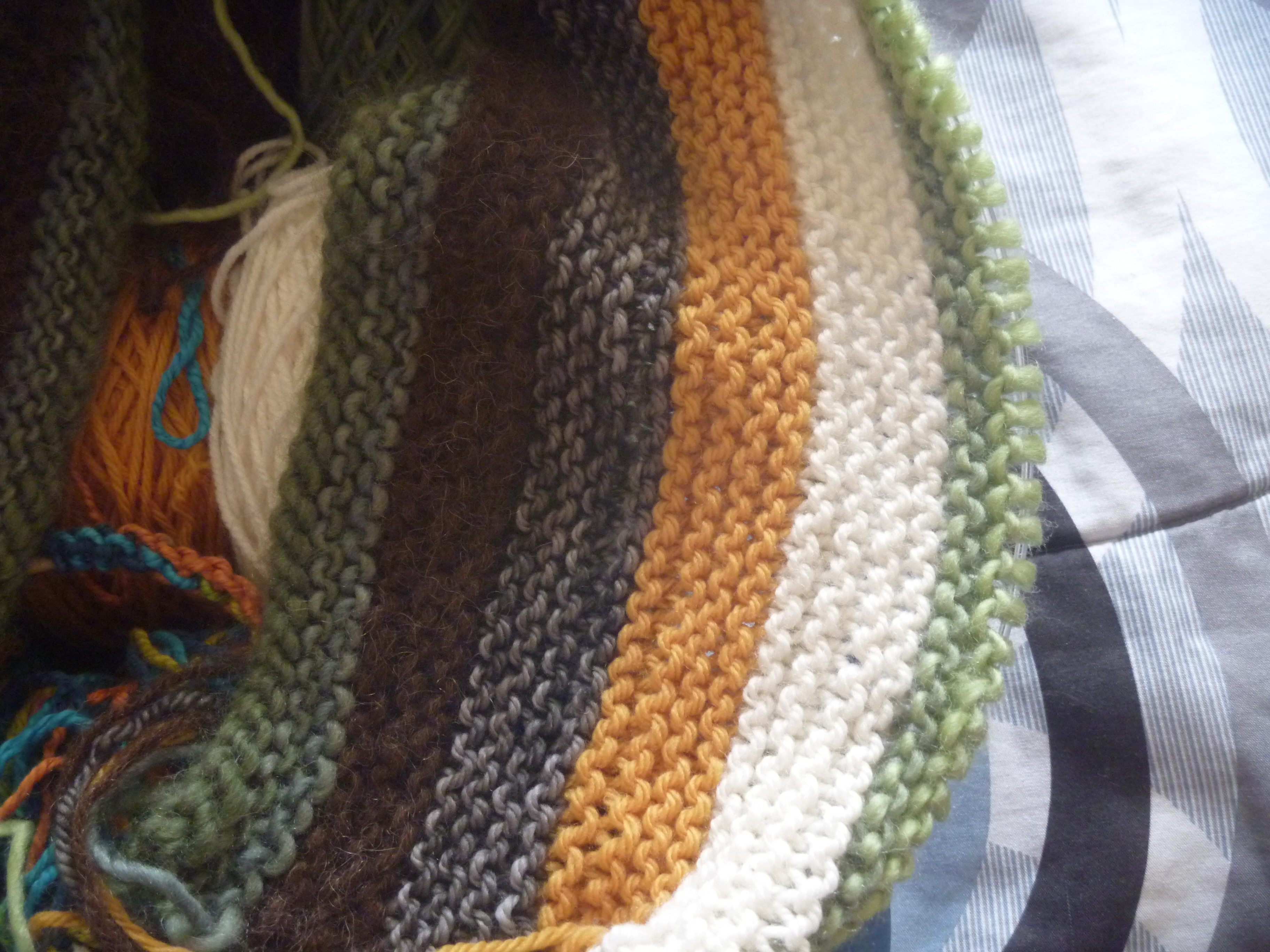 adding green stripe to striped top