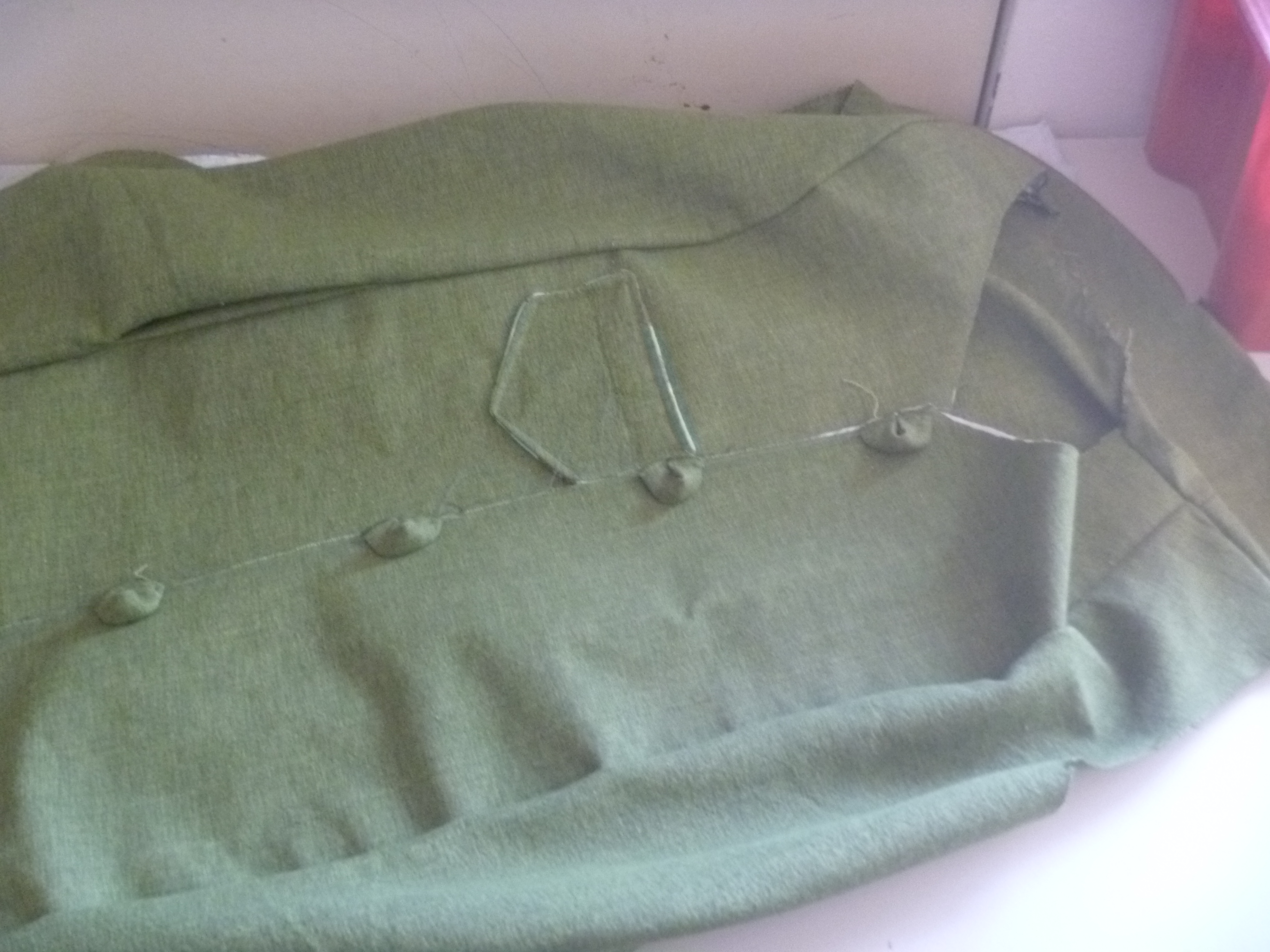 coat front without collar and other bits
