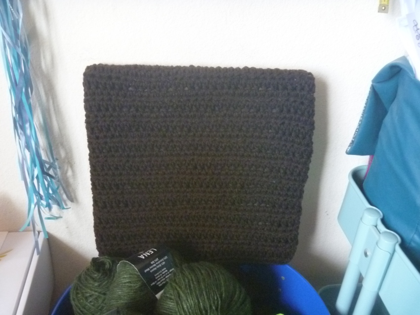 crochet square, front
