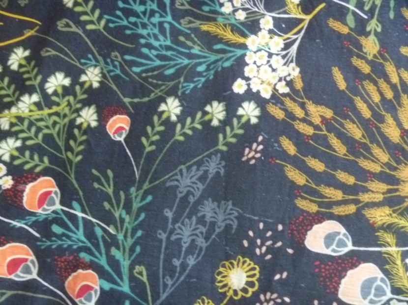 upclose of floral fabric
