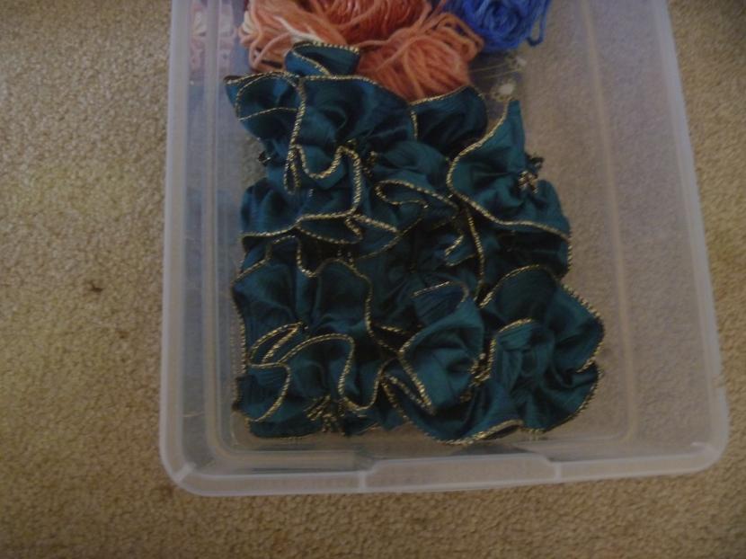 blue ribbon flowers