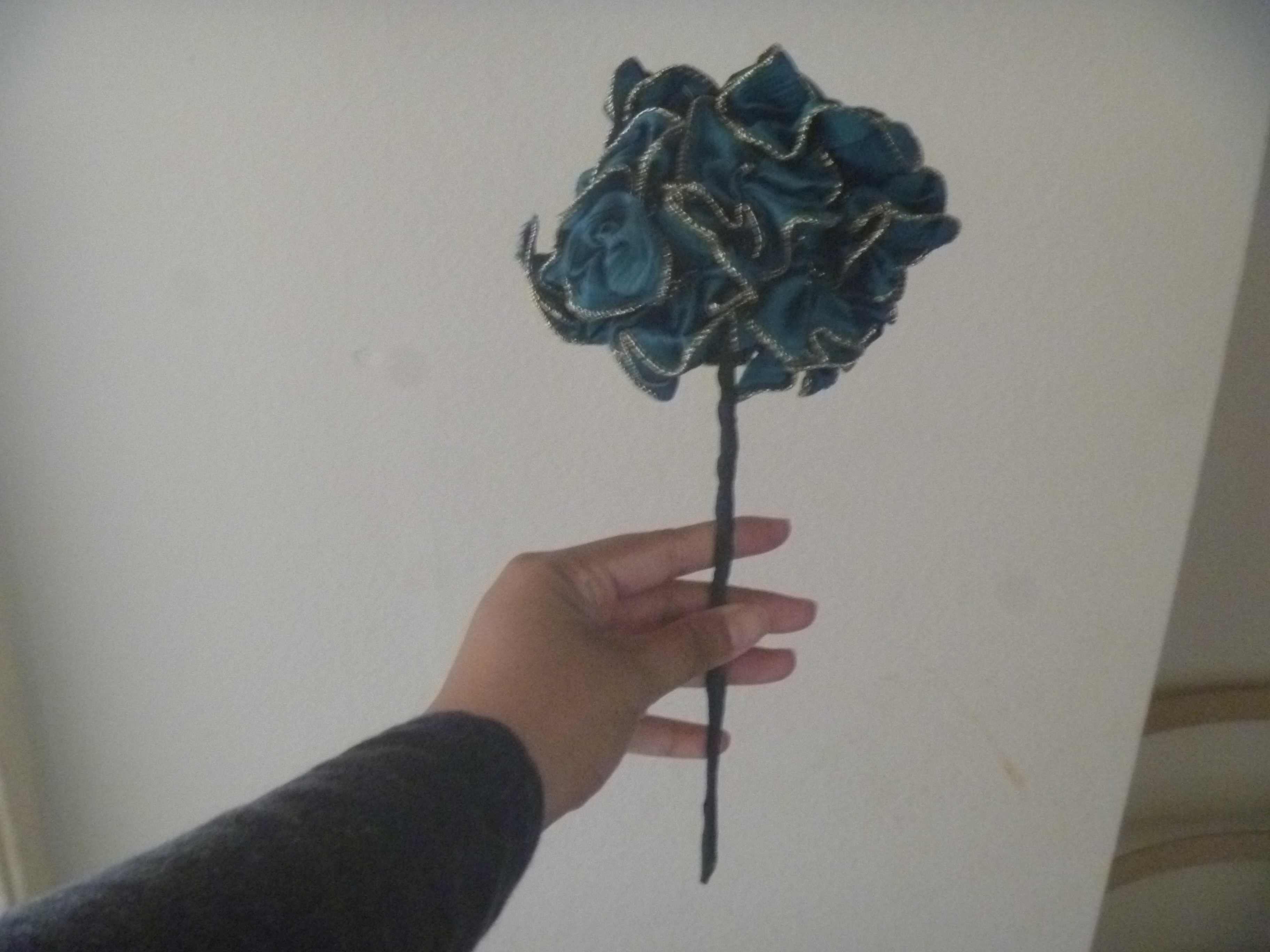 blurry photo of ribbon floral bouquet