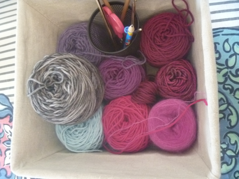 yarn after two finished sections