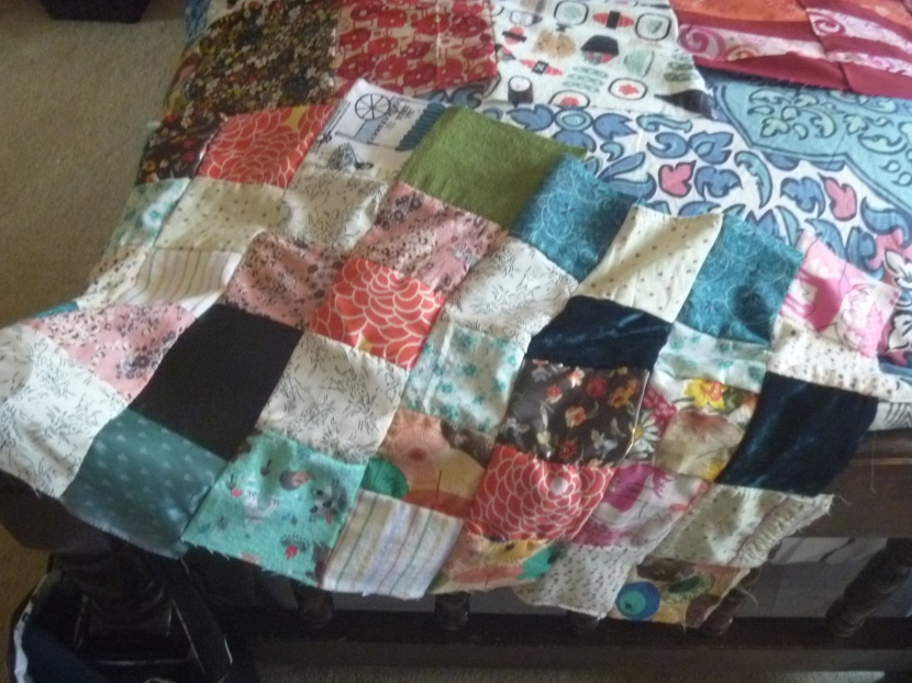 middle of quilt back