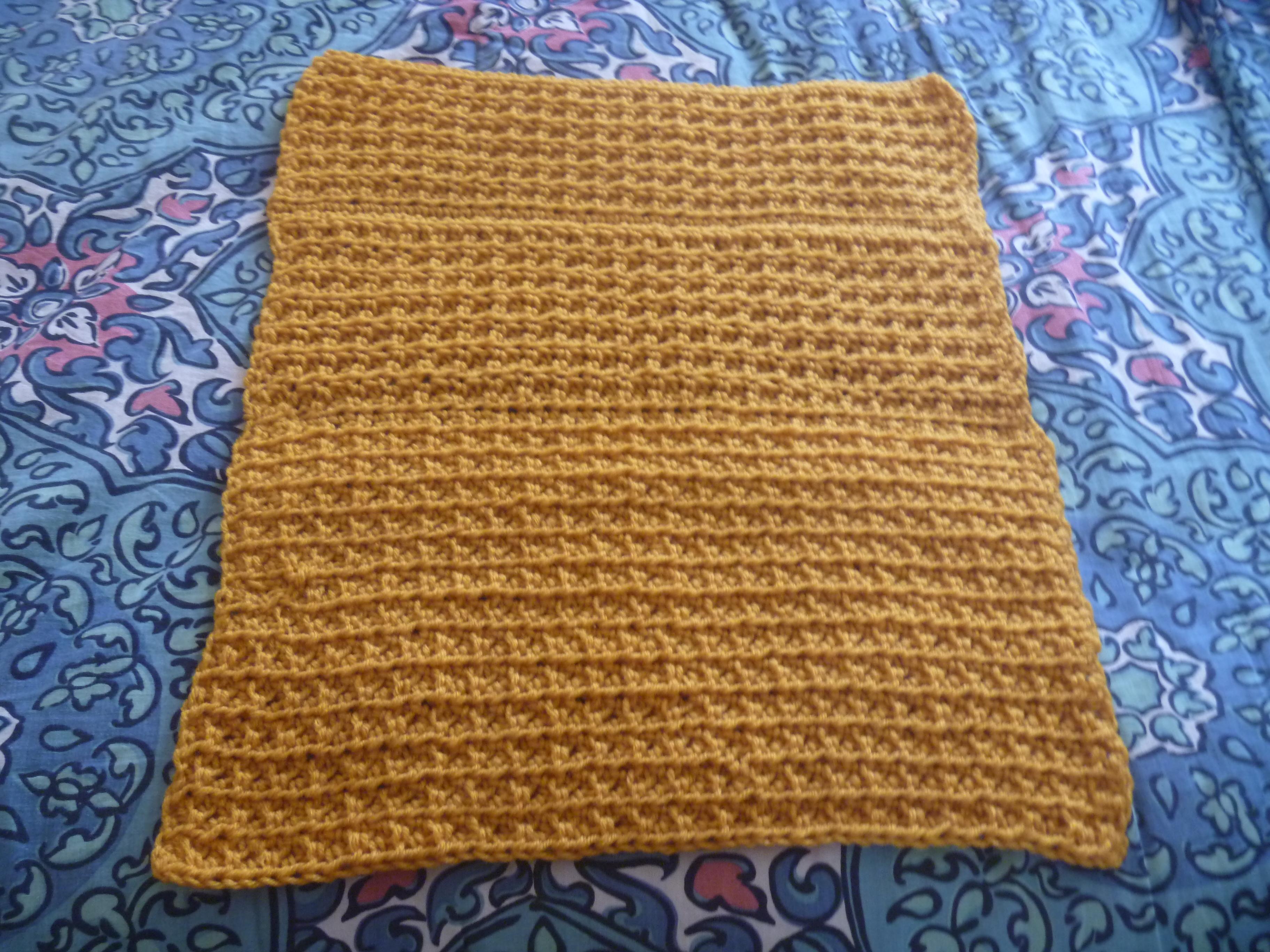 semi-rectangular block of crochet