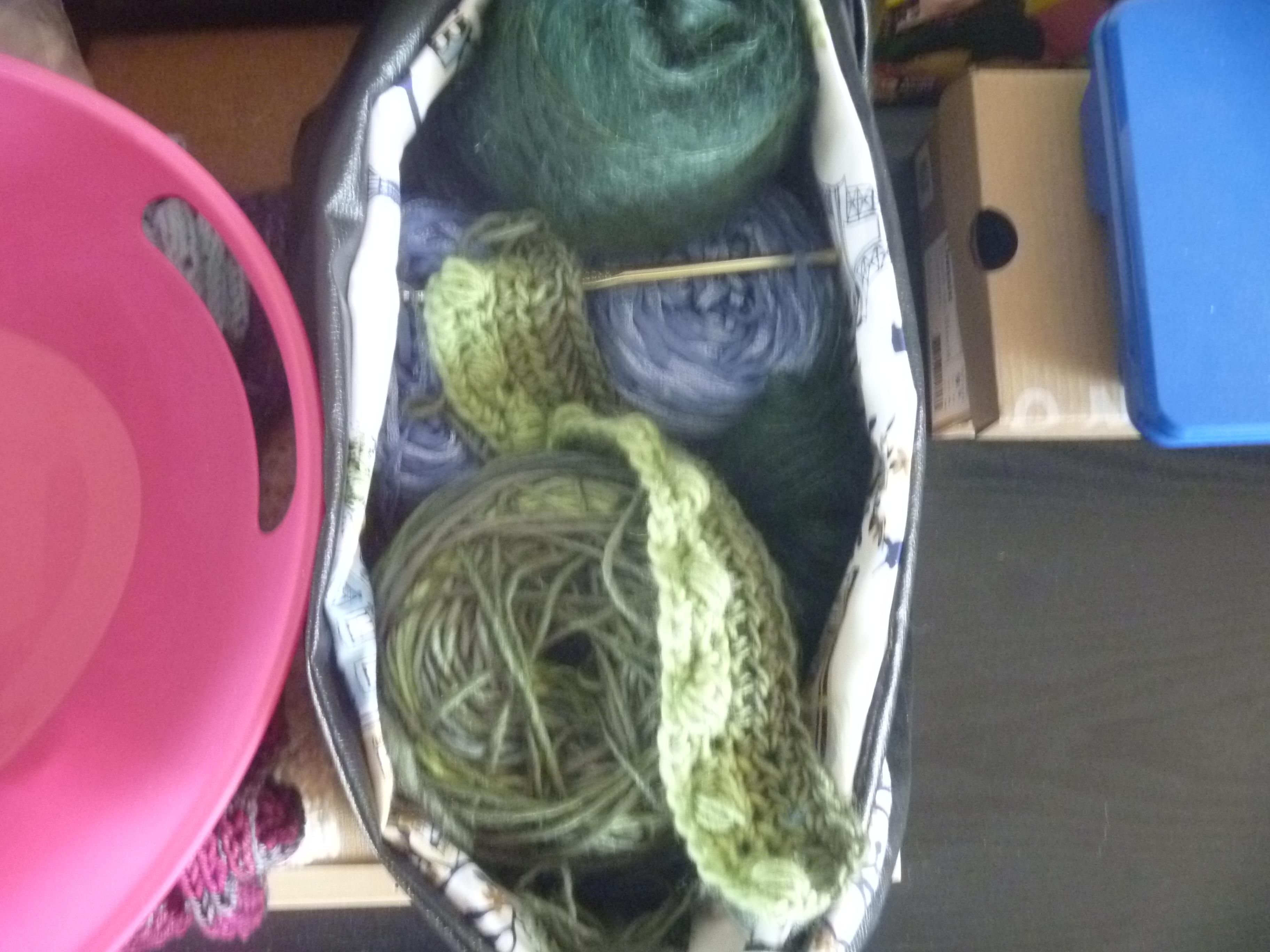 beginning of another crochet pullover