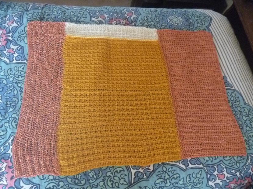 crochet colourblocked blanket