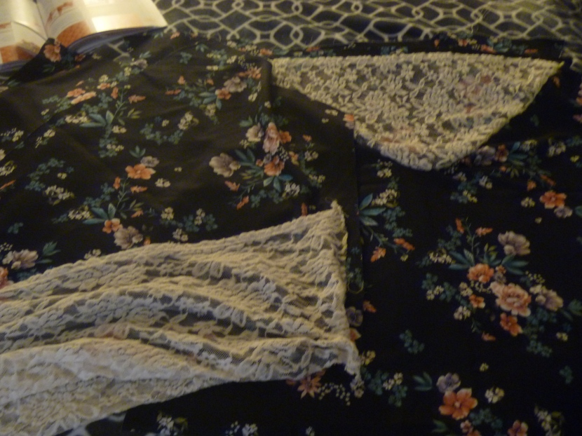 lace and silk top pieces