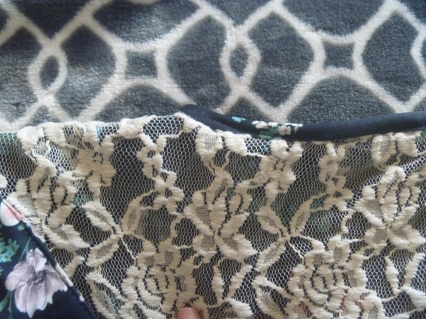 seam binding on neckline