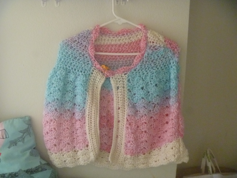 puffy pastel capelet