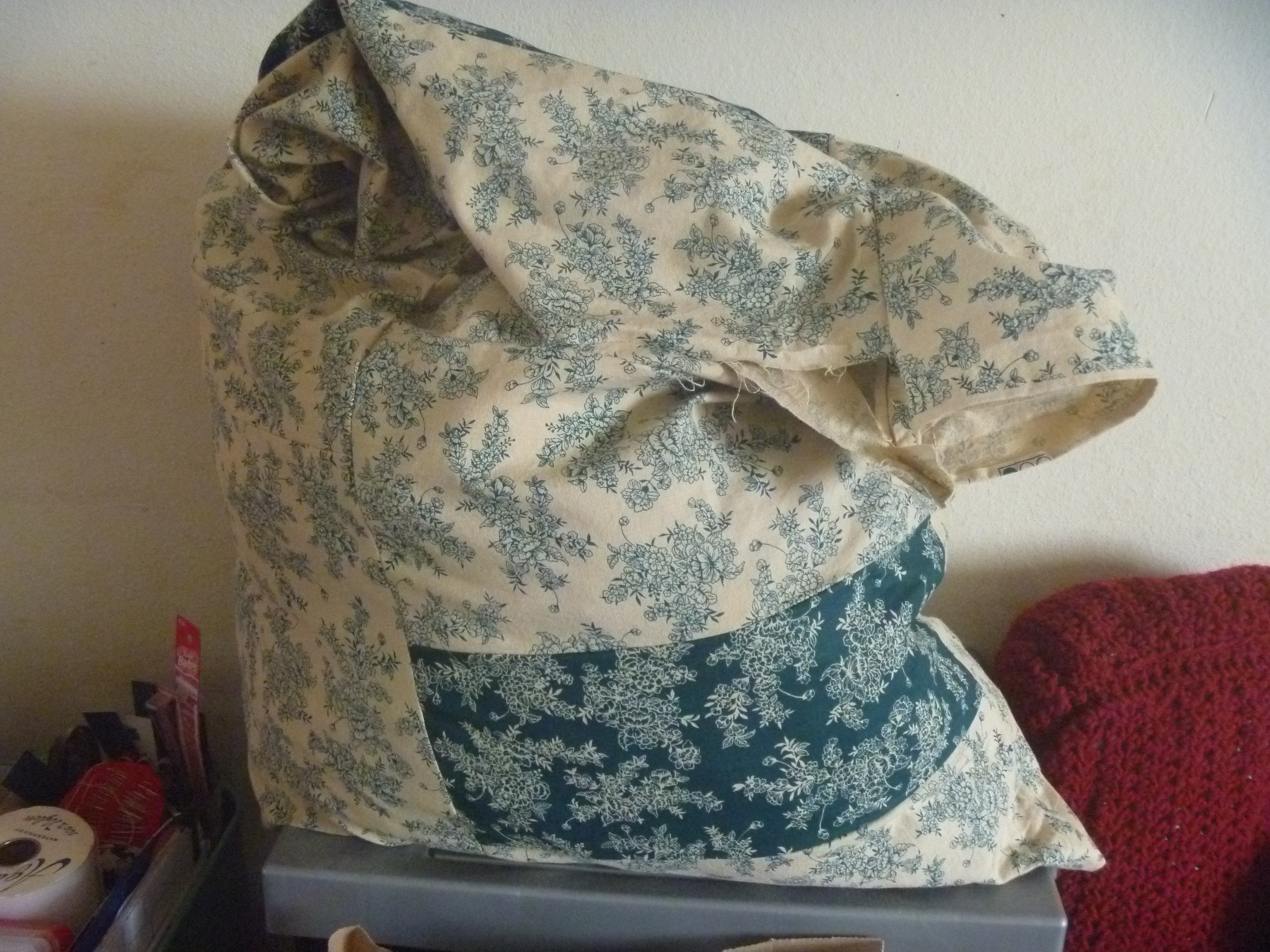 fabric scraps made a pillow form