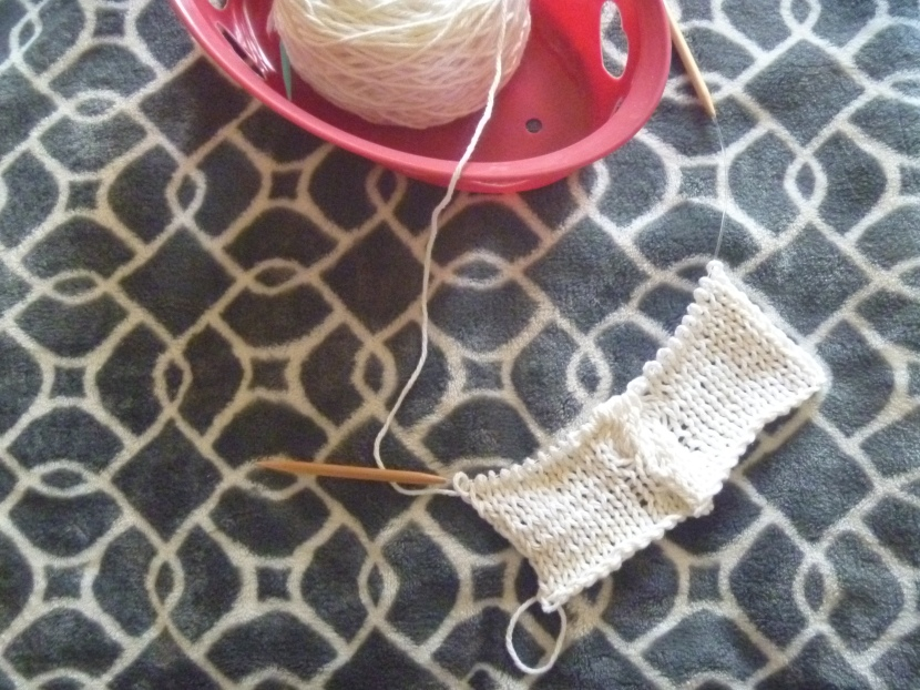 beginning of white cable cowl