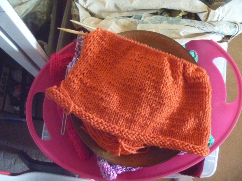 orange knitting