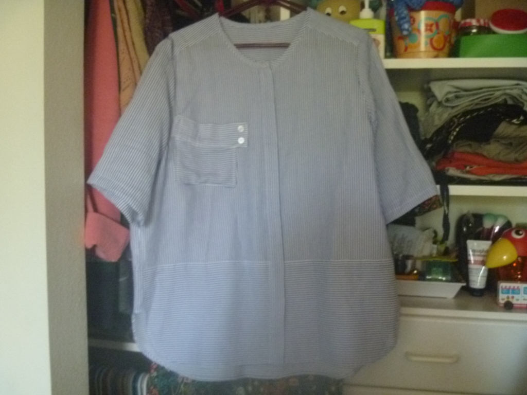 shirt with shortened sleeves