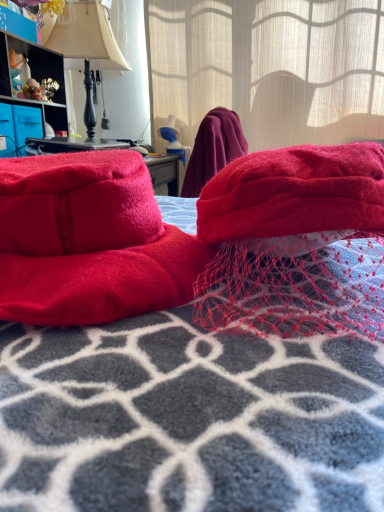 Front views of hats