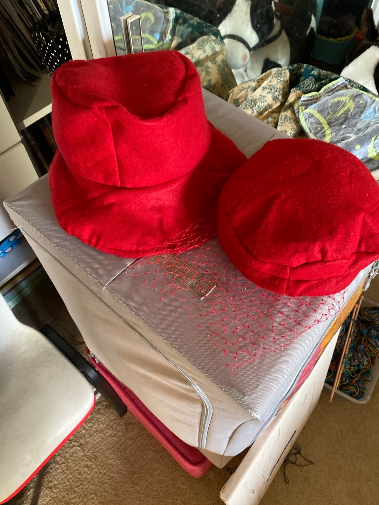 two red hats