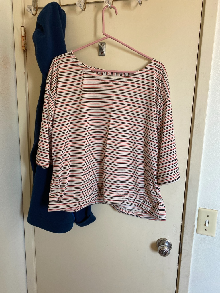 multicolour striped shirt