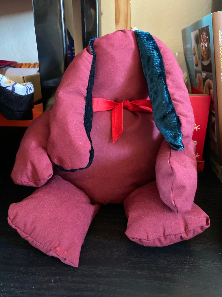 Faceless rabbit stuffy